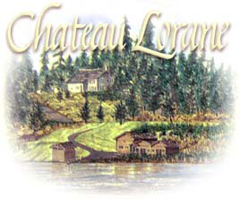 Chateau Lorane Wine Label